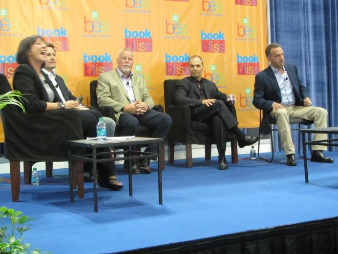 Authors Marcia Clark, David Baldacci, Michael Connelly, Scott Turow and George Pelecanos at BEA